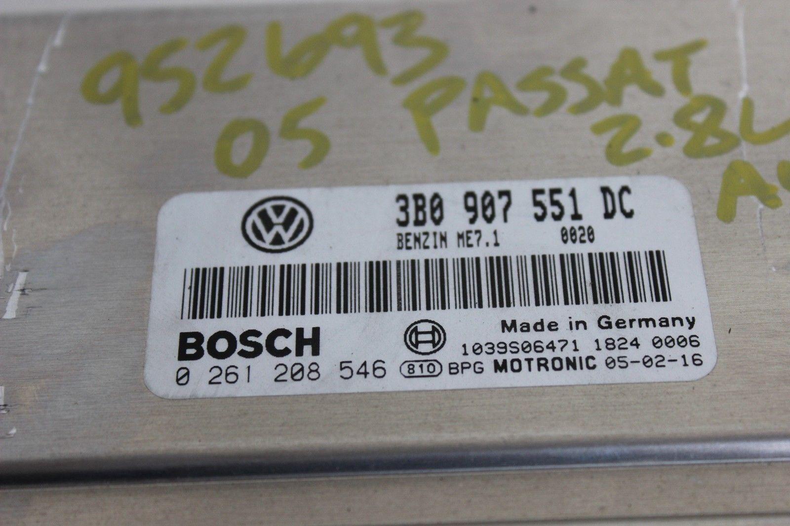 2005 VW Volkswagen Passat 2 8L V6 Auto AWD 4Motion Engine Computer ECU ECM  PCM