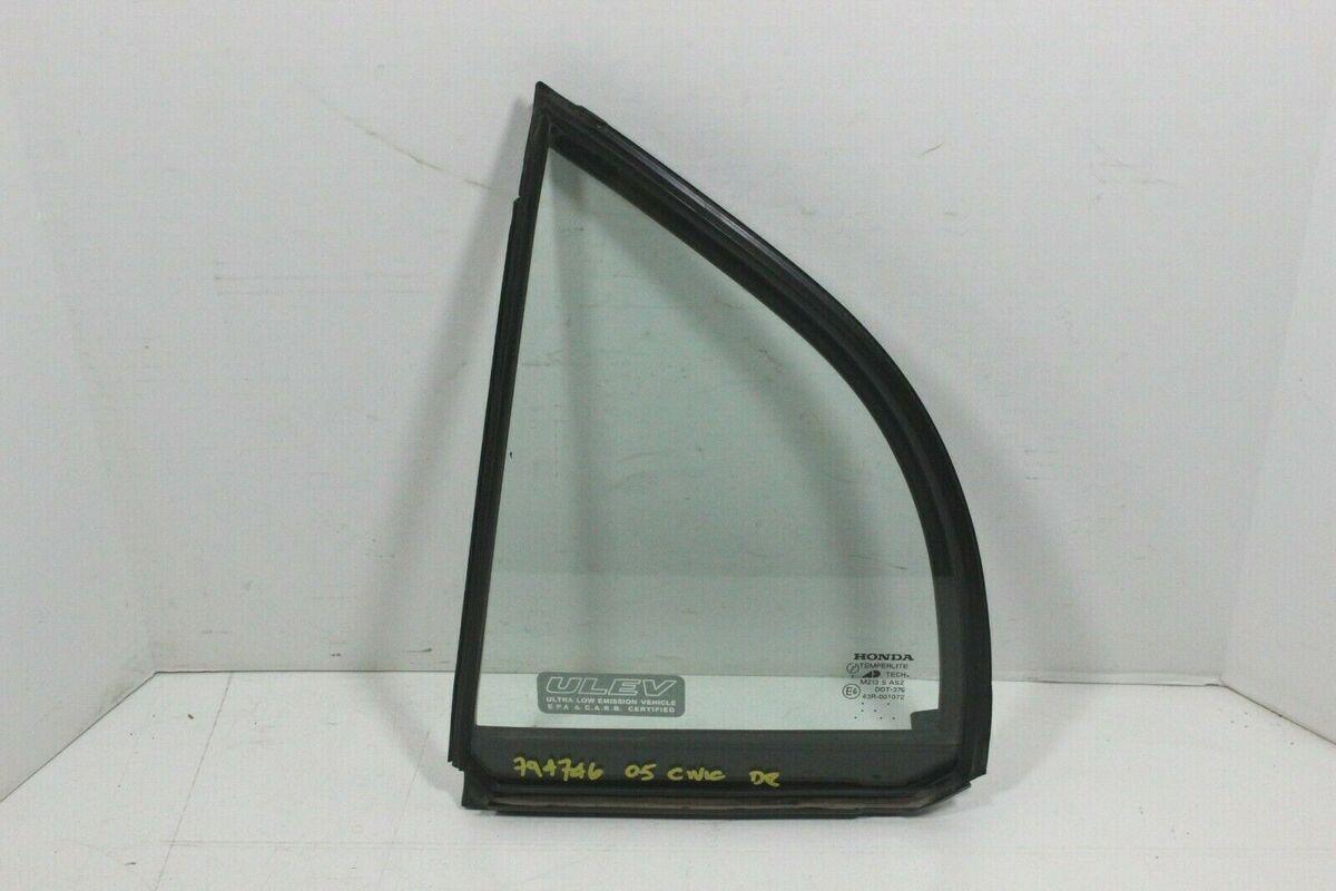 2001-2005 Honda Civic 4 Door Sedan Rear Driver Left Side Vent Window Glass
